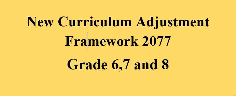 New Curriculum of Grade 6,7 and 8