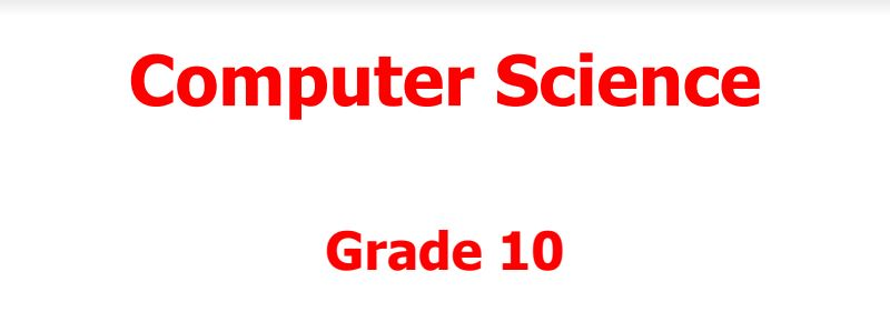 Computer Science book grade 10