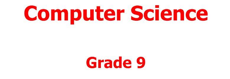 computer science book grade nine