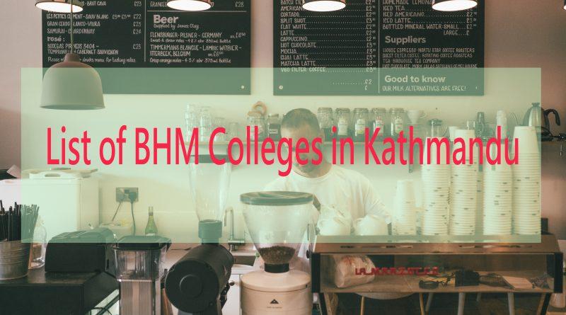 List of BHM Colleges in Kathmandu