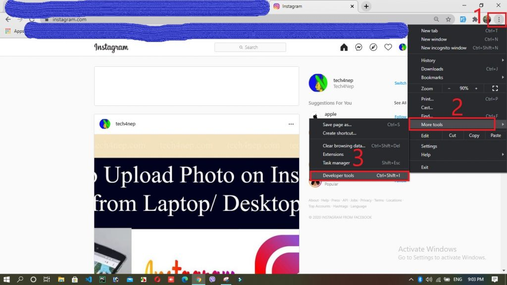 How to upload a photo on Instagram from Laptop or Desktop