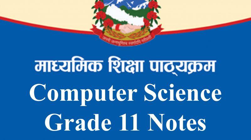 Computer Science Grade 11 notes