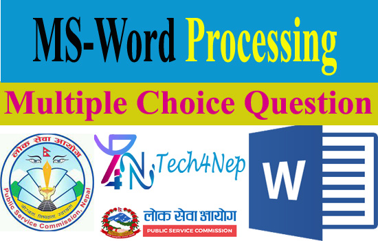 MS-Word Processing Multiple Choice Question