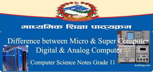 Difference between Microcomputer and Super computer