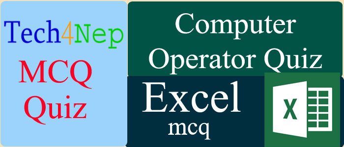 computer operator mcq on excel