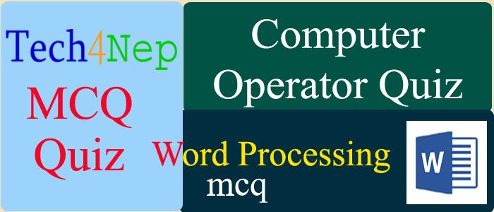 computer operator mcq set