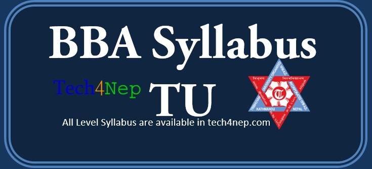 Bachelor in Business Administration-BBA Syllabus