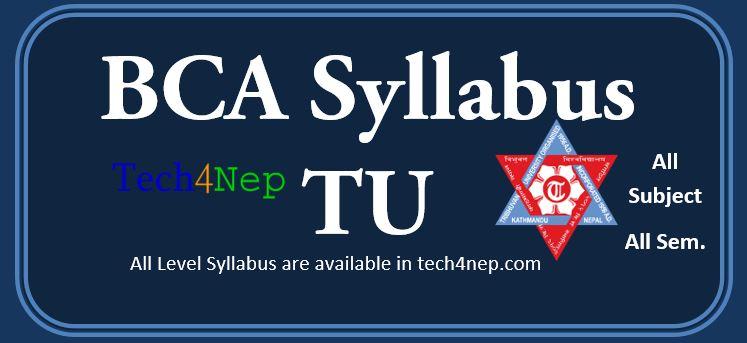 Bachelor in Computer Application (BCA) Syllabus