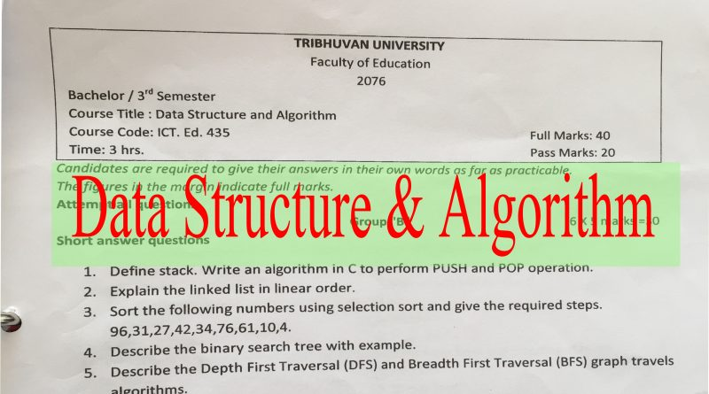 Old Question of Data Structure & Algorithm