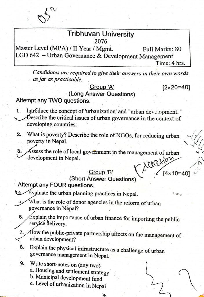 Urban Governance and Development Management