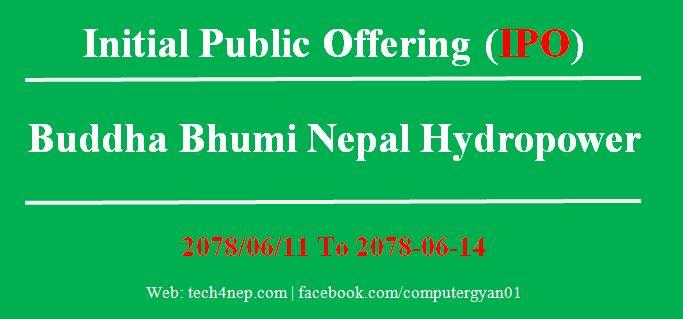 Buddhabhumi Nepal Hydropower IPO
