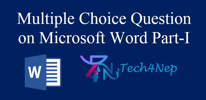 Multiple Choice Question on Microsoft Word